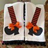 Fancy and Fun Witch Shoe Dish Towels ...