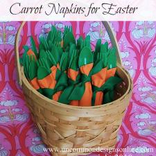 How To Make DIY Carrot Napkins