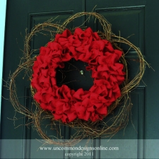 Fourth of July Outdoor Burlap Wreath