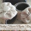 Burlap Flower Napkin Rings