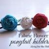 Fabric Flower Ponytail Holders