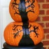 DIY Painted Halloween Pumpkin Topiary...