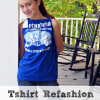 Tshirt Refashion... { Pillowcase Top }