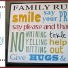 DIY Family Rules Subway Art