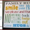DIY Family Rules Subway Art