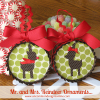 Mr. and Mrs. Reindeer Ornaments... { A Tutorial }
