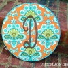 Monogrammed Embroidery Hoop Wall Art