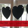 Garnet Hill Inspired Heart Chalkboard Banner