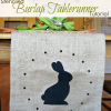 Stenciled Burlap Table Runner...{ A Tutorial }
