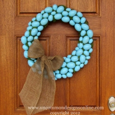 Robin's Egg Blue Easter Wreath { Easter Decorating Idea }