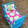 An Upcycled Doll Bed for My Girls...