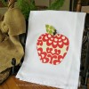 Appliqued Apple Towel...{ A Teacher Gift }
