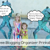 5 Free Blogging Organizer Printables