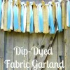Dip Dyed Fabric Garland { A Tulip Tie Dye Tutorial }