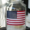 Patriotic Flag Mason Jar Lanterns...