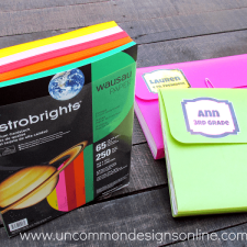 Back to School with Astrobrights: Organizing School Papers with Style