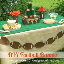 DIY Tailgating Football Banner