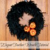 Elegant Feather Wreath: A Mini Tutorial