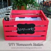 Homework Station { Portable DIY Crate }...
