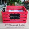 Homework Station { Portable DIY Crate }...
