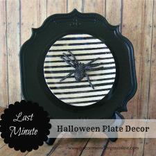 Last Minute Halloween Plate Decor...