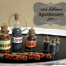 Mini Halloween Apothecary Jars
