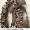  Pine Cone Snowy Wreath ...