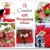 5 Gift Wrapping Ideas ... { Boxwood Wrapped Gift }