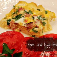 Ham and Egg Bake... not just for breakfast...
