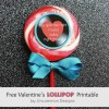 Free Valentine Lollipop Printable