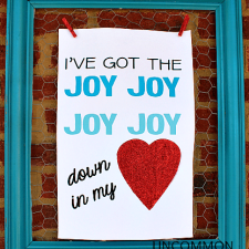 Valentine Printable { I've got the joy... }