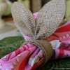 Burlap Bunny Ear Napkin Rings
