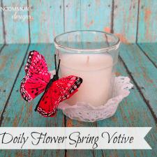 DIY Doily Flower Votive Holder