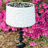 DIY Pom Pom Lampshade... Wayfair and Hometalk DIY Challenge