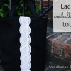 Lace Embellished Tote Bag