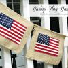 Burlap 4th of July Flag Banner