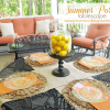 Summer Porch Tablescape and a Summer Tablescape Link Party