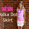 Neon Polka Dot Skirt