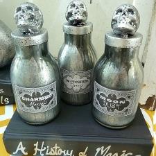 DIY Faux Mercury Glass Potion Bottles