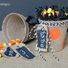 Halloween Treat Buckets with Chalkboard Paper Tags