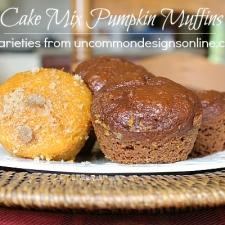Cake Mix Pumpkin Muffins