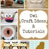 12 Fall Owl Crafts Ideas and Tutorials