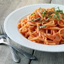 Pasta with Tomato Cream Sauce Recipe