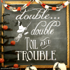 Halloween Chalkboard Art and Free Printable