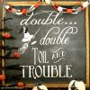 Halloween Chalkboard Art and Free Printable