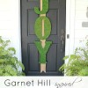 Garnet Hill Inspired Moss JOY Letters