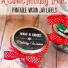 Christmas Mason Jar Treat and Printable Tags