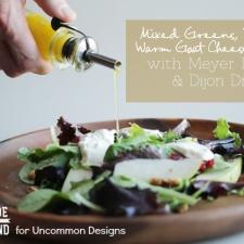 Mixed Greens, Pear and Warm Goat Cheese Salad