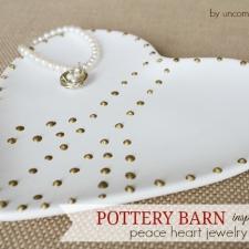 Pottery Barn Inspired Peace Heart Jewelry Dish