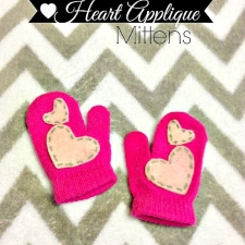 No Sew Heart Mittens